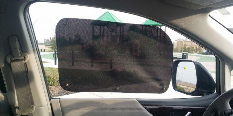 95% Auto Sun Shade Anytime Anysize Anywhere Suction On Windows