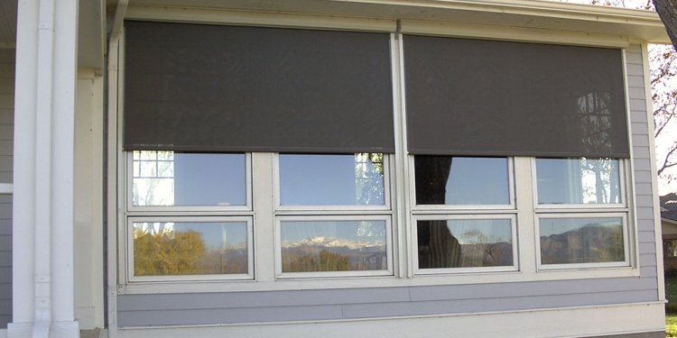 Exterior Patio Sun Screens and Roller Shades - K to Z Window Coverings