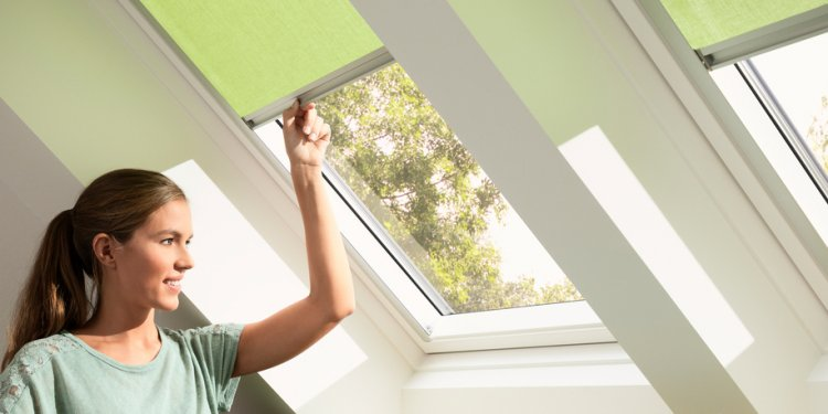 VELUX roof windows, flat roof windows, sun tunnels and blinds